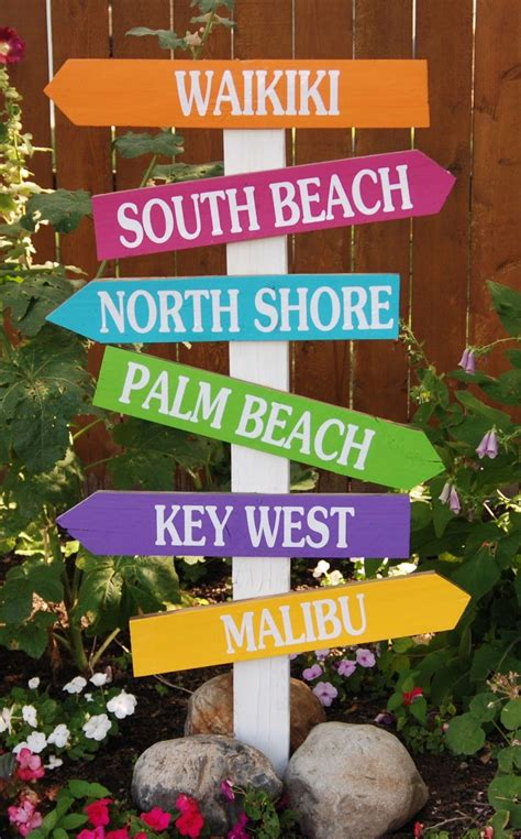Beach Wood Directional Signs