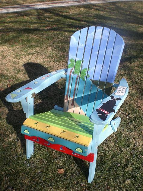 Beach-Themed-Adirondack-Chairs