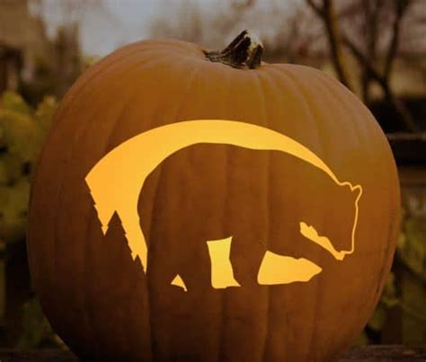 Bear Pumpkin Carving Templates