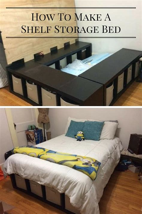 Bed Chest Diy With Lifting Storage Shelf