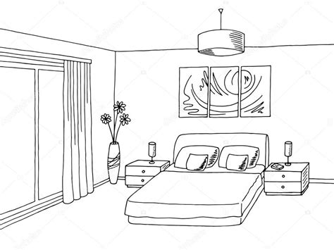 Bed Drawings Black And White So Simple