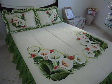 Bed Sheet Design With Fabric Paint
