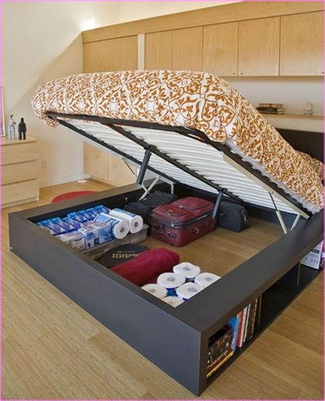 Bed With Storage Under Diy