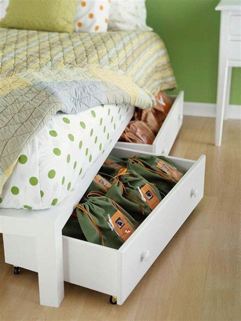 Bed With Storage Under Diy Crafts