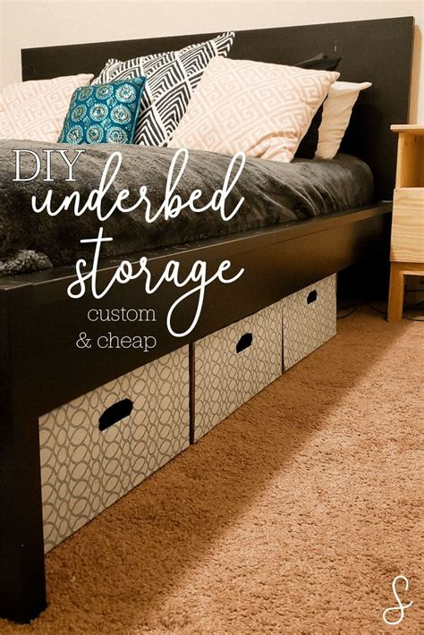Bed With Storage Underneath Diy Fire