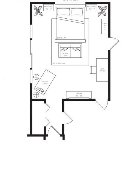 Bedroom-With-Chair-Layout-Floor-Plan