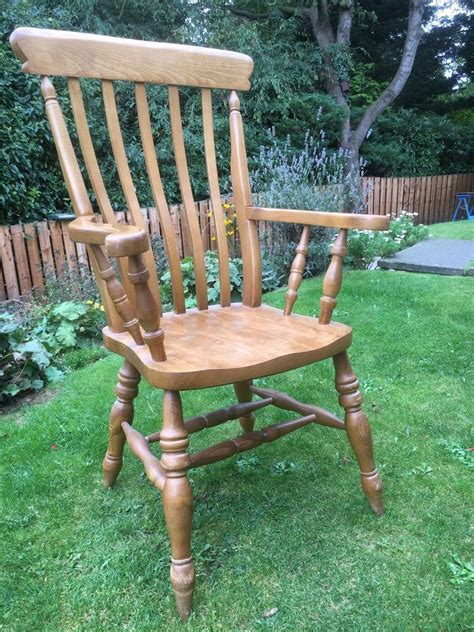 Beech Carver Kitchen Chairs