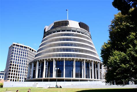 Beehive parliament building wellington Image