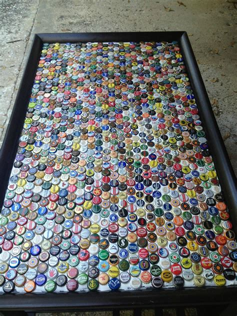 Beer Bottle Cap Table Diy