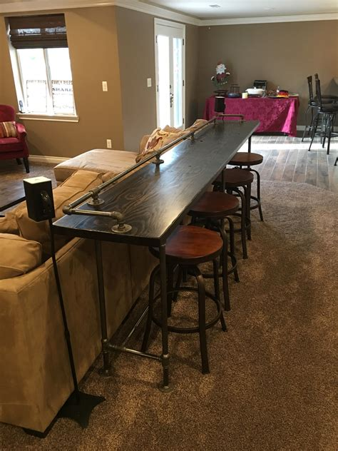 Behind Couch Bar Table With Tables