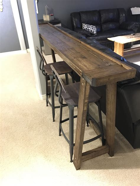 Behind The Couch Bar Table Diy Underneath