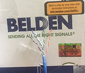 Belden 2412 006100M Blue Cat 6+ 100 Meter (328 Feet) on a spool