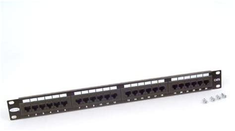 Belkin 24-Port 568A/568B Cat5 Angled Patch Panel with Cable Rings