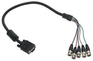 Belkin Pro-Series 5-BNC Monitor Cable (6 Feet, HDDB15M to 5-BNC Male)