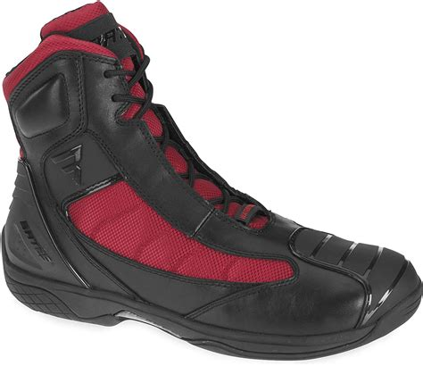 Beltline Performance Men's Motorcycle Boots (Black/Red, Size 9.5)