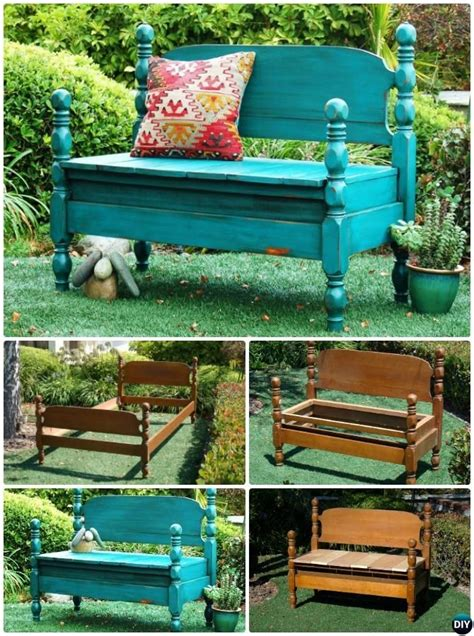 Bench Bed Frame Diy Outside Benches