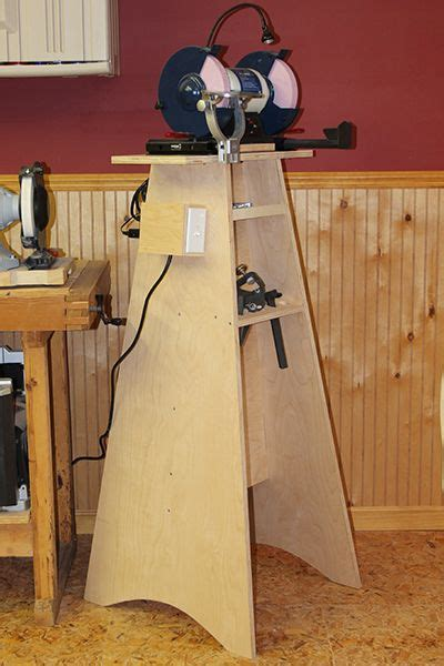 Bench Grinder Stand Woodworking Plans