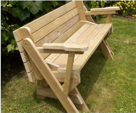 Bench Into Picnic Table Free Plans