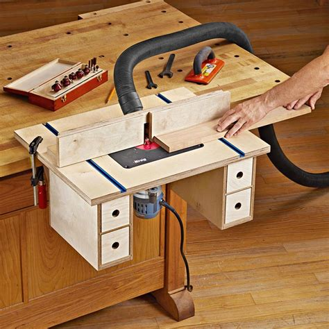 Bench Mounted Router Table Plans