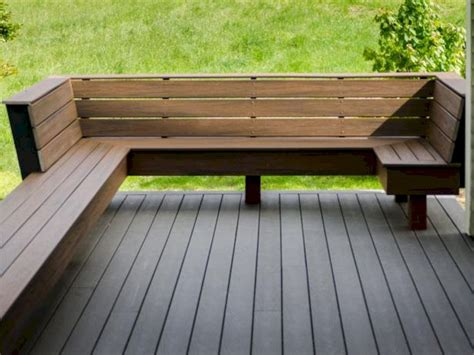 Bench Seating Plans For Outside Deck