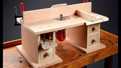 Bench Top Router Table Plans