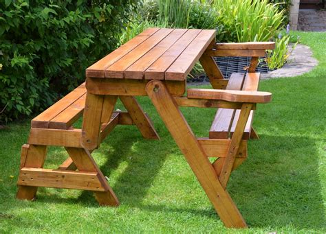 Bench Transforms To Picnic Table Plans