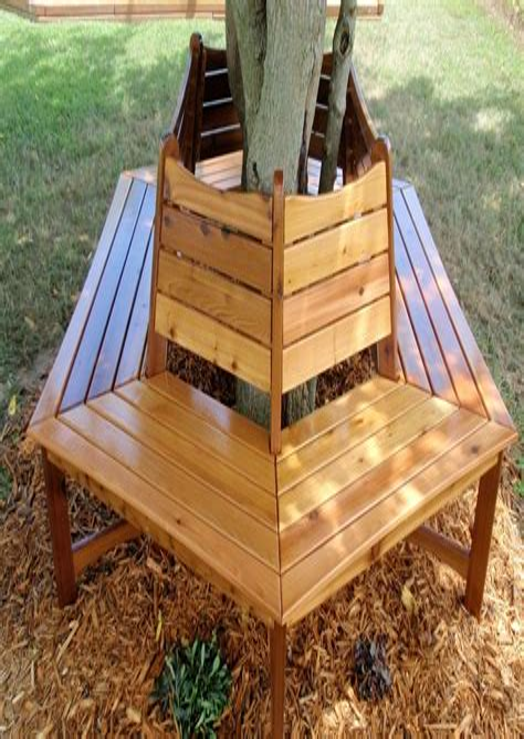 Bench-Around-Tree-Plans