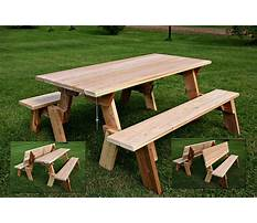 Best Bench picnic table combo plans