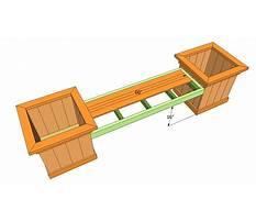 Best Bench planter plans free