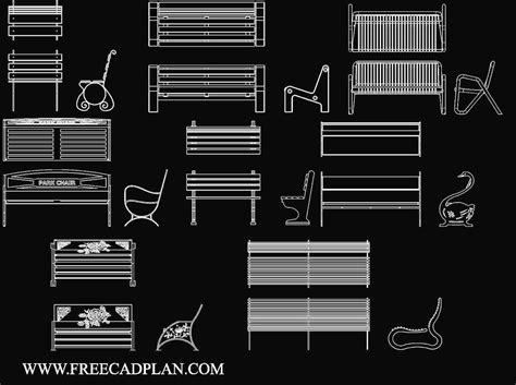 Benches-In-Autocad-Plan