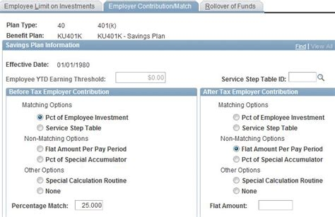 Benefit Plan Table Peoplesoft