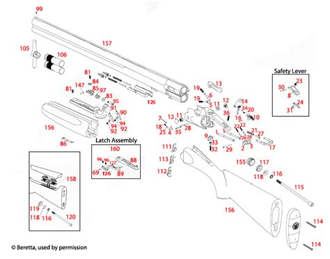 Beretta  692 Sporting Schematic - Brownells Uk.