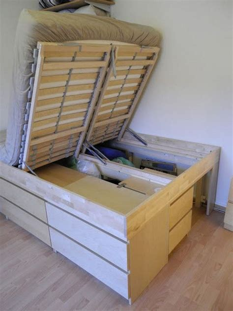 Best Bed Lift Storage Diy Shelves