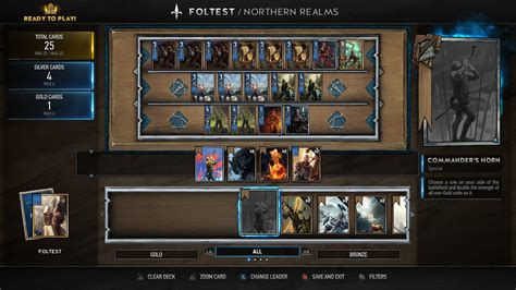 Best Deck Build Gwent The Witcher
