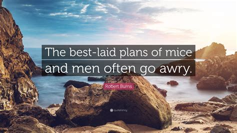 Best Laid Plans Of Mice And Men Oft Go Awry