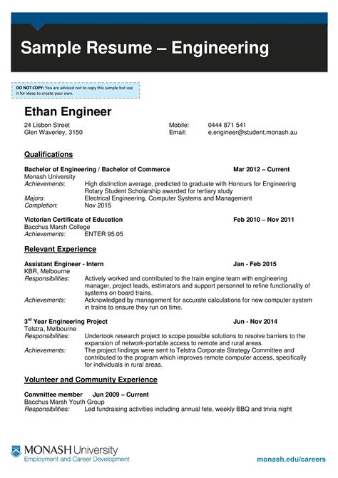 Resume It Help Desk Support Example Resume For Internship In