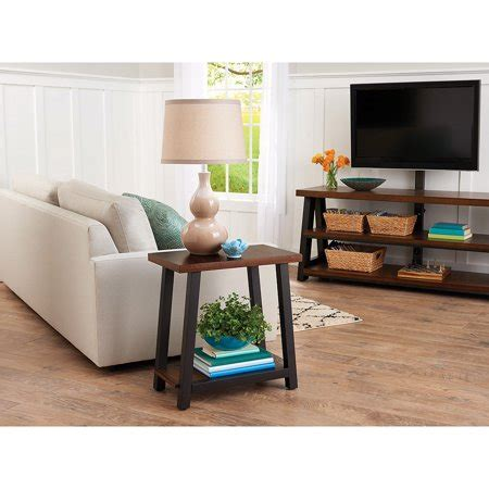 Better Homes And Gardens Mercer Side Table Vintage Oak