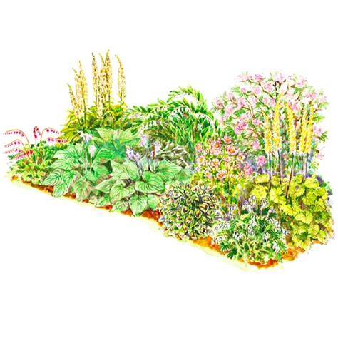 Bhg Garden Plans Soft Color Shade Garden