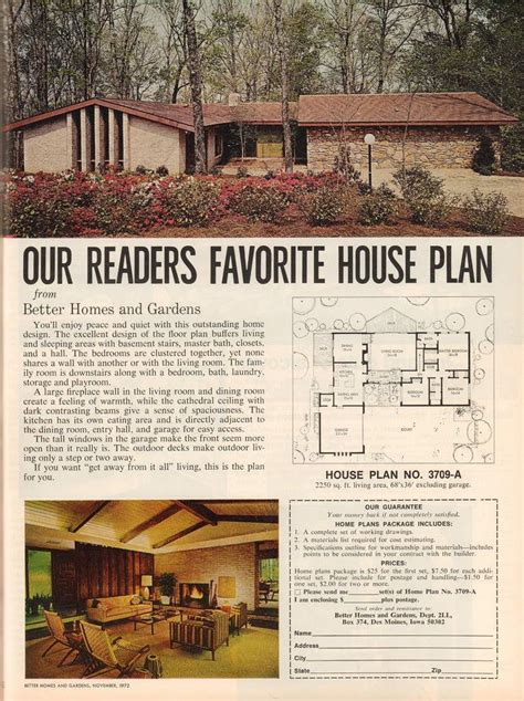 Bhg House Plans Of 1960s