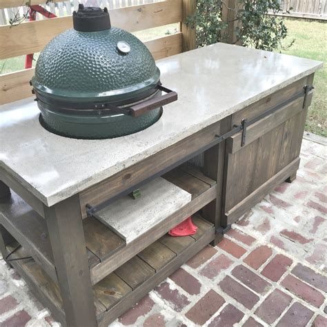 Big Green Egg Concrete Table Plans