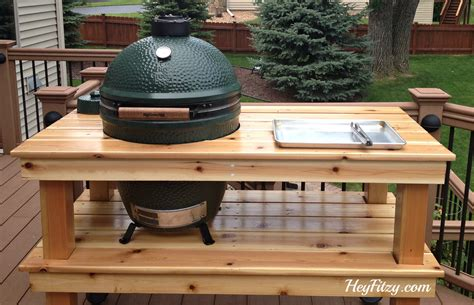 Big Green Egg Diy Table Plans