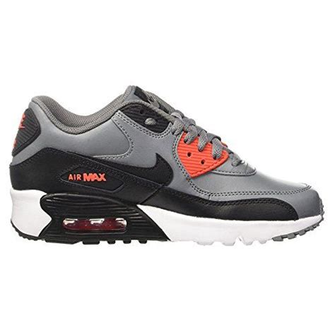 Big Kids' Air Max 90 Leather Running Shoes, Lightweight, Comfortable and Durable Full-Grain and Synthetic Leather