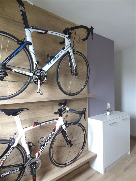Bike Rack Hanging DIY With Storage