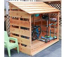 Best Bike storage shed diy