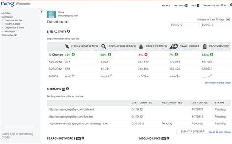 Bing Webmaster Tools Account