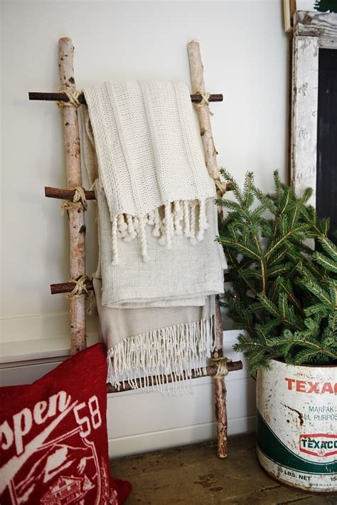 Birch Quilt Ladder Rack