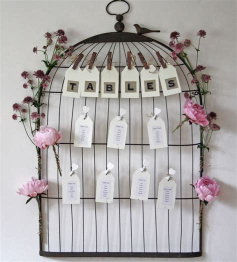 Birdcage Wedding Table Plan Stand