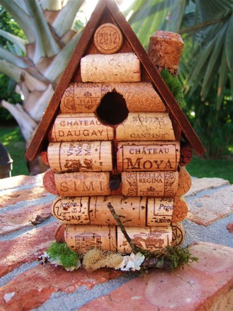 Birdhouse Patterns Made Out Of Wine Corks