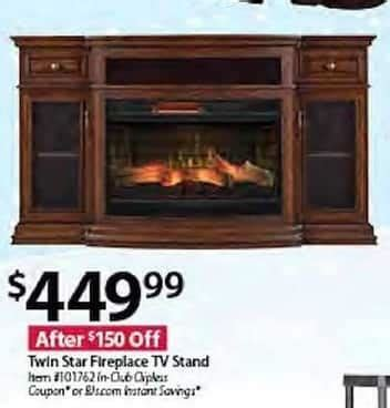 Bj Twin Star Fireplace Tv Stand