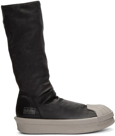 Black Adidas Edition Mastodon Stretch Boot High-top Sneakers